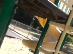 Hot girl gets fucked at the playground