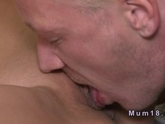 Blond dude licks and fucks mature lady in bedroom