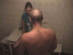 Russian homemade porn with hottie screwed on kitchen table