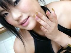 Haruna Katou in Tongue Massage Scene