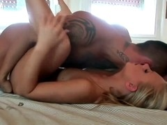 Hawt Barbie White pounded by Oriental mate