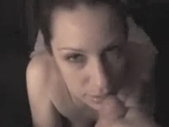 Horny wife sucks cock in this video
