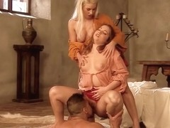 The King Seduce Two Teen Maids to Fuck Anal in Cosplay Porn