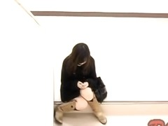 Awesome upskirt video with petite Japanese girls in skirts