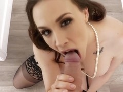 Chanel Preston blows