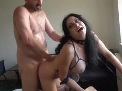 Tattooed brunette, Damaris likes it rough, up her ass, until she starts screaming from pleasure