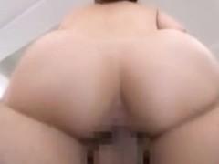 Pretty office worker Yui Tatsumi gets a deep rear fucking