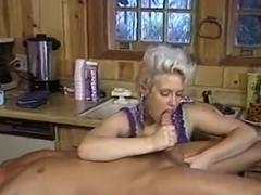 Drinking fresh sperm for dinner