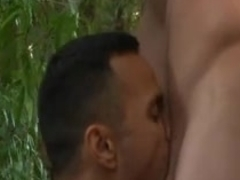 Stud fucked in the ass in the forest