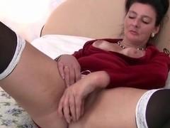 Grandma loves a dildo up her ass