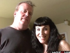 Chubby Goth MILF Pussy Licked and Fucked