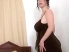 Amazing Brunette, Big Tits adult clip