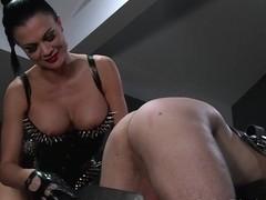 BDSM XXX Silent hooded slave receives brutal treatment