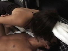 Sex-craving and eager brunette bunny getting naked and fondles her wet dripping cunt