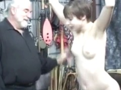Short-haired beauty acquires spanked - part two