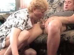 Chunky Mama with Her Slim Man!