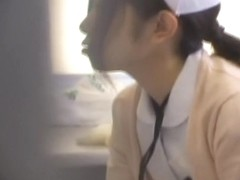 Jap nurse collects a semen sample in medical fetish video