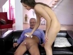 Juvenile brit acquires anal by an old guy