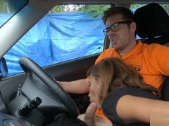 Kiki Minaj gave a nice BJ and banged by driving instructor