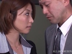 Lustful Asian milf Akari Asahina gets banged by horny boss