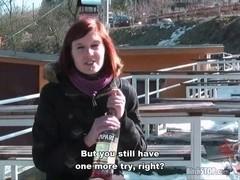 Slut STOP - Slim hitchhiker Eva drilled at home