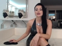 Aletta Ocean sexy camshow in a latex dress