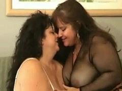 Two Bbw's getiing bbc and cum