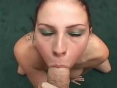 Big titted chick sucks a mean cock POV DTD