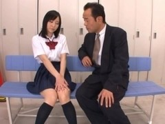 Ren Misaki  High school girl gets her first anal sex