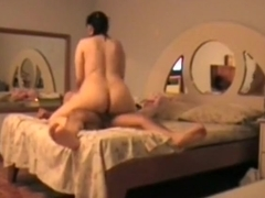 Mature couple watch themselves fuck in the mirror
