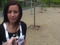 Iva in sex in the park with a hot bimbo and a horny dude
