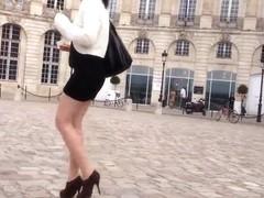 Sexy mini skirt legs high heel 02