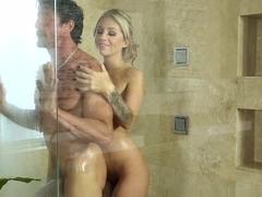 Curvy latina Angelina gets naked in bang bus