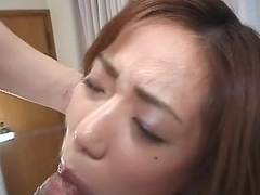 Teen school girl gives blowjob with thick cumshot Tsubomi Kanno