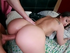 Fucking a white girl with a huge ass