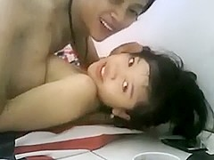 this oriental pair is getting in some admirable fucking on livecam