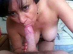 My wife sucking my prick in sex film