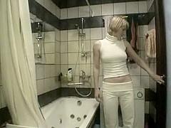 Non-professional bathroom sex