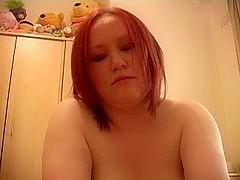 Redhead non-professional big beautiful woman fuck and facial