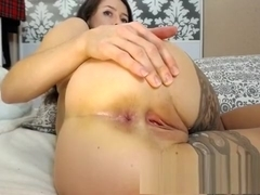 Solo gal Anjelica in stockings fingering