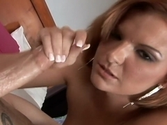 Cassie Courtland has a great time working her lover's huge boner
