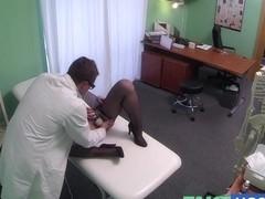Hidden cameras catch female patient using massage tool for an big O