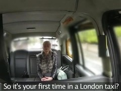 British hottie gets fucked hardcore inside a taxi cab