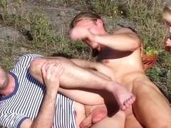 Slut sucks bisex dicks