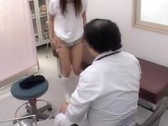 Spy cam voyeur video with asian bosoms examined by doctor