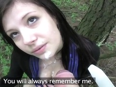 PublicAgent: Eva takes cash for sex in the woods