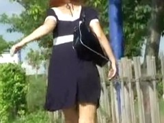 Kinky sharking video showing a lovely Japanese hottie