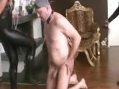 Blond German Mistresses Whip Villein Stupid