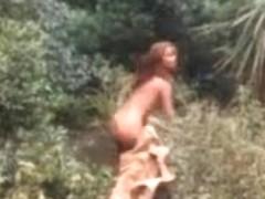 vintage mainstream chick bathing video