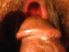 Dark-skinned wench spreds her butt cheeks for her lover